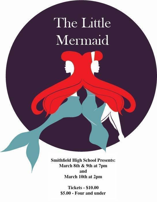 The Little Mermaid on stage at Smithfield High school