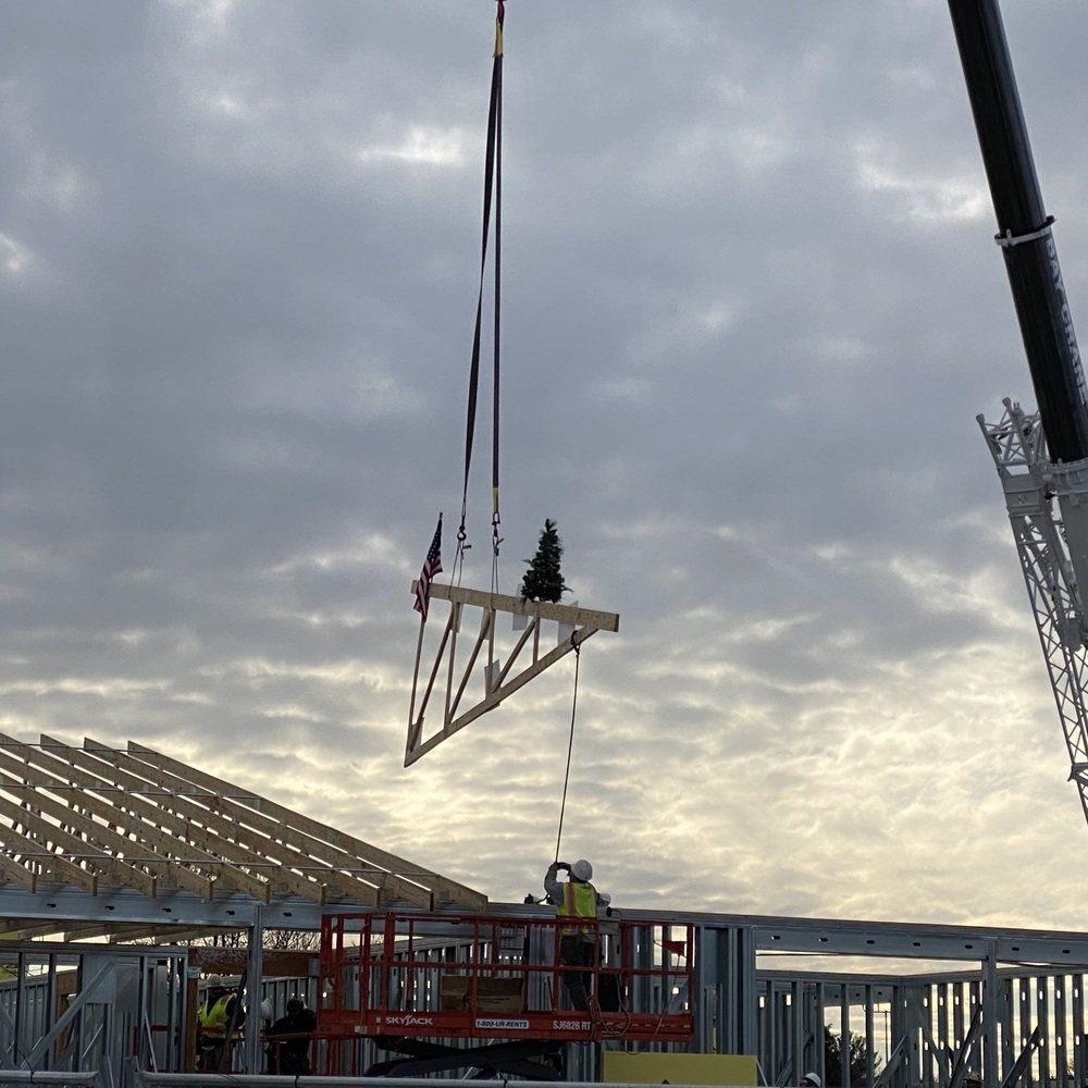 Wood Truss Topping-Off Ceremony