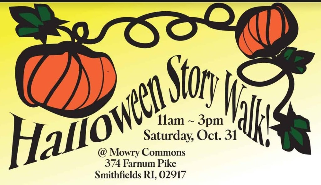Halloween Story Walk flyer with pumpkin