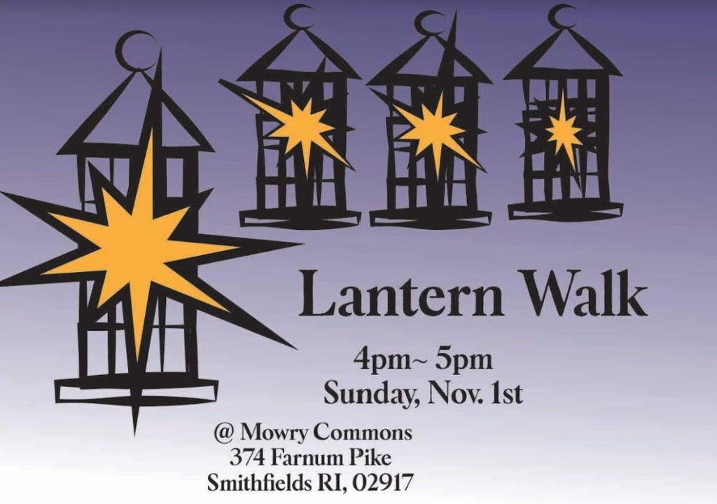 lantern walk poster with pictures of lanterns