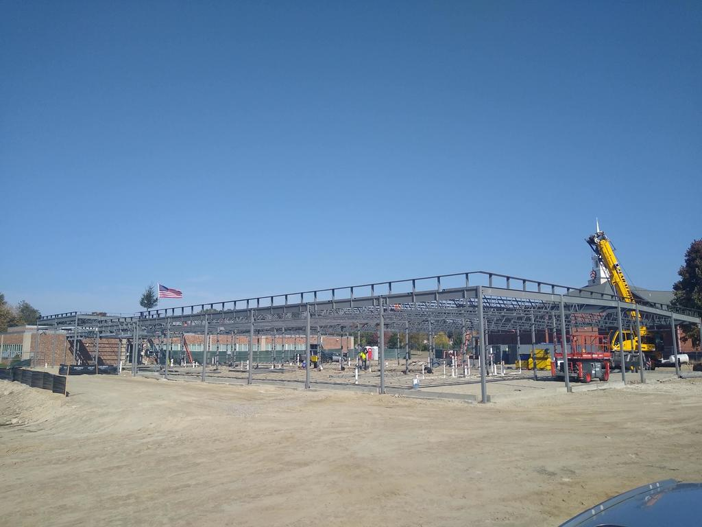 Steel work for the LaPerche Elementary School addition.