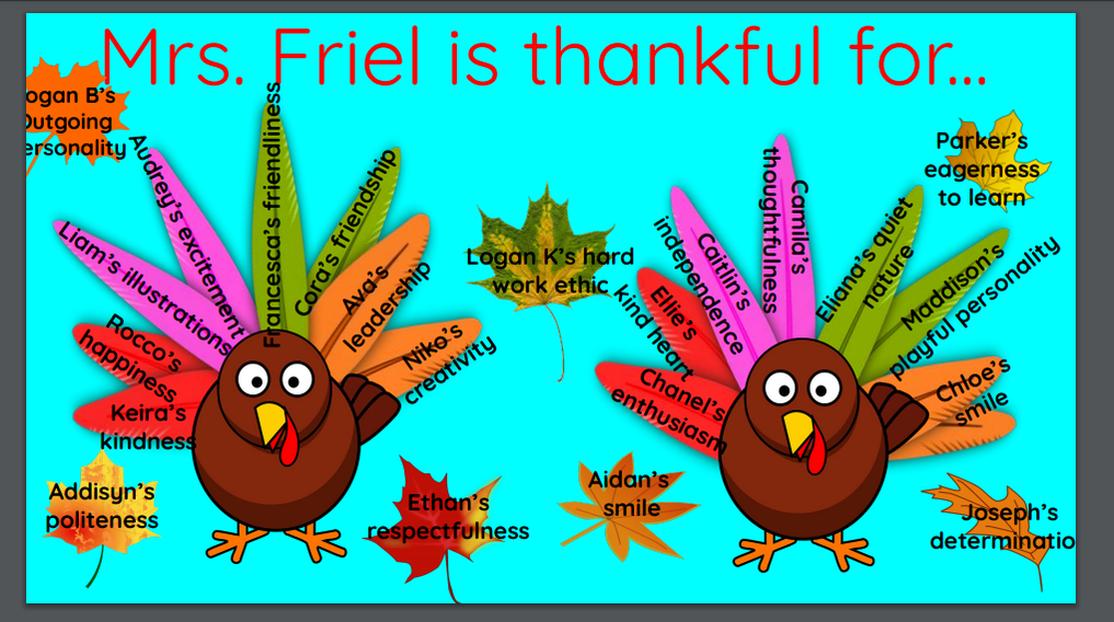 Thankful for our friends!