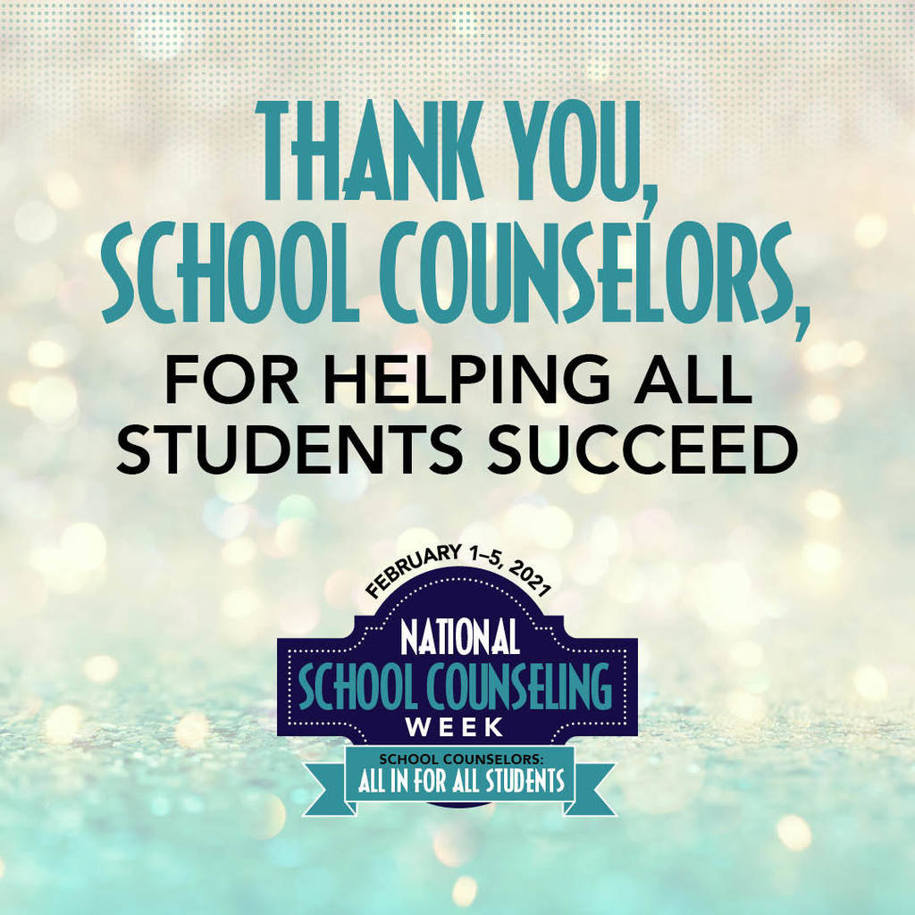 Thank you, school counselors, for helping all students succeed.