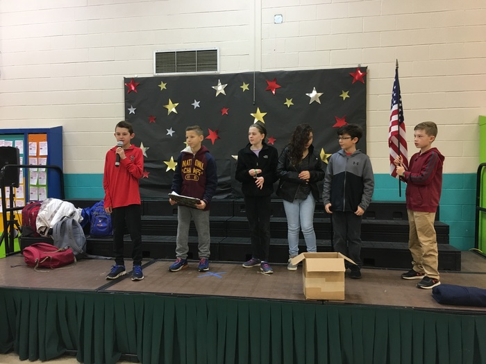 Fifth Graders Speak at Morning Meeting