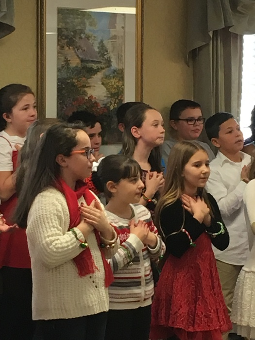 Fourth Graders Singing