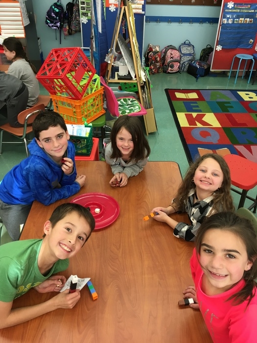 First and Fourth GRaders play the dreidel game!