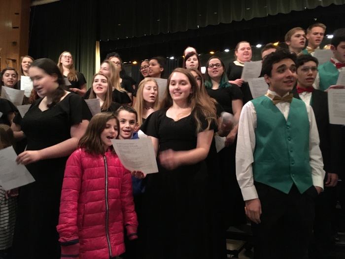 Fourth graders join the singers