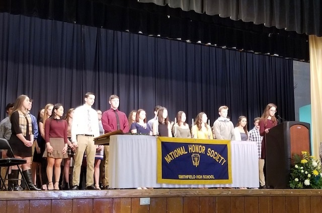 Class of 2019 inductees on stage
