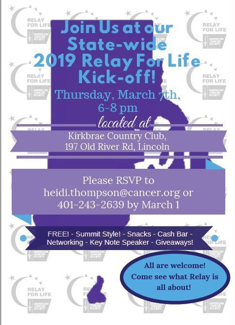 Kickoff event flyer - RsvP to heidi.thompson@cancer.org