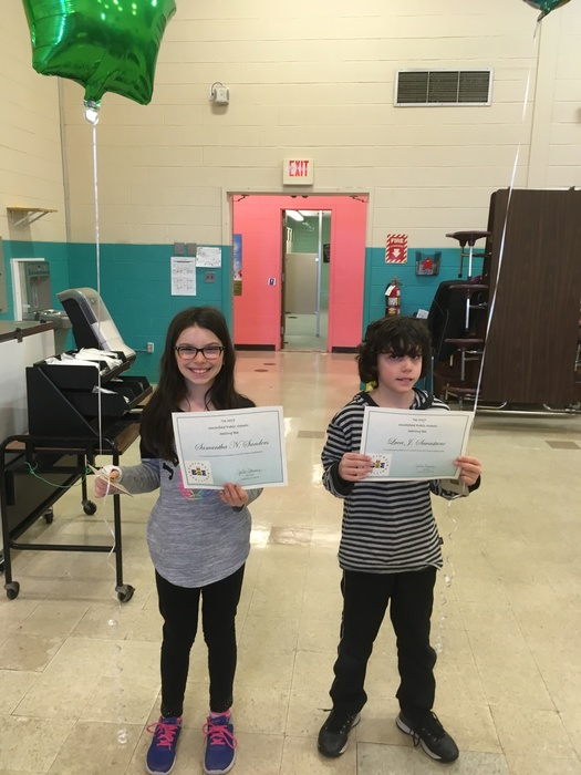 Samantha and Luca at the district spelling bee