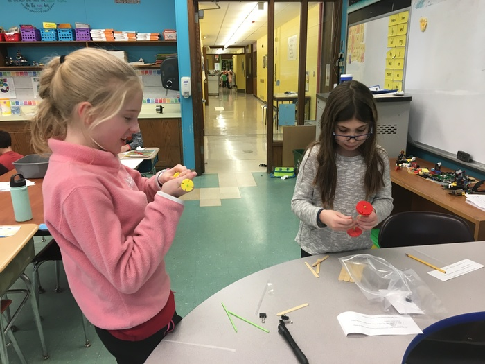 third graders test their carts