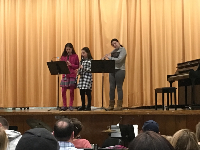 Fifth graders performing