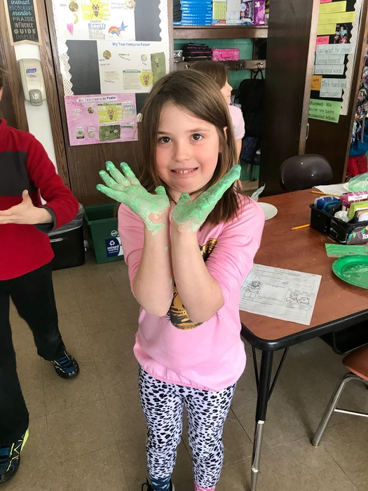 Students explore oobleck