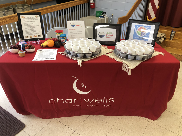 Chartwells table with parfaits