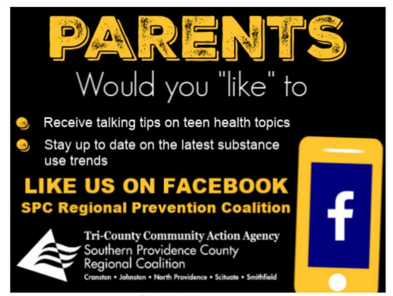 Families: Like the SPC Regional Coalition Facebook page to see updates on teen health topics. https://www.facebook.com/SPC-Regional-Prevention-Coalition-721871718159831/