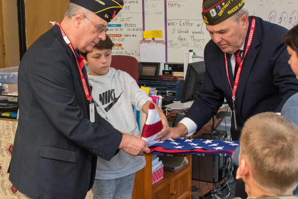 Flag etiquette with the American Legion