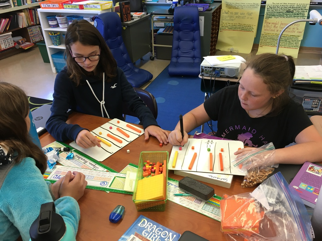 Using manipulatives to solve math problems