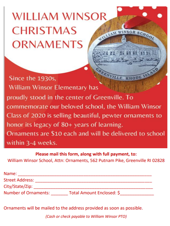 Form for ordering ornaments