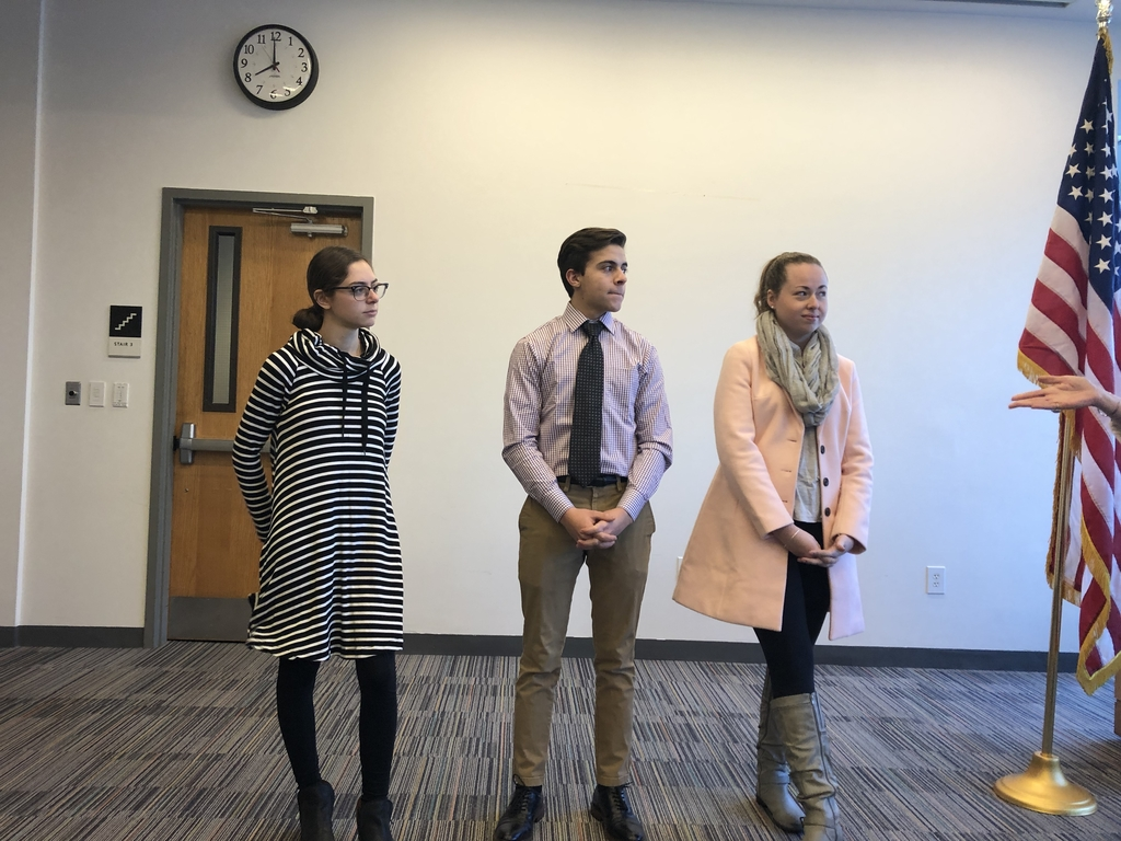 Students speaking at rotary