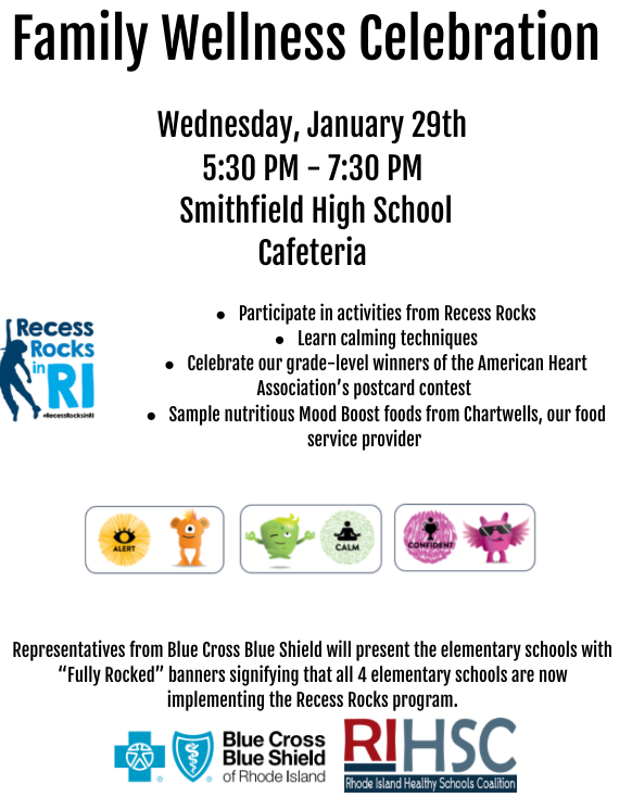 Wellness Flyer  January 29th 5:30-7:30 PM at Smithfield High School
