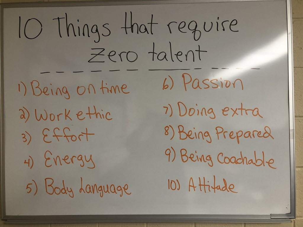 Things that require 0 talent.