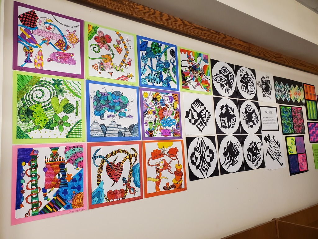 GMS artwork at Greenville Library