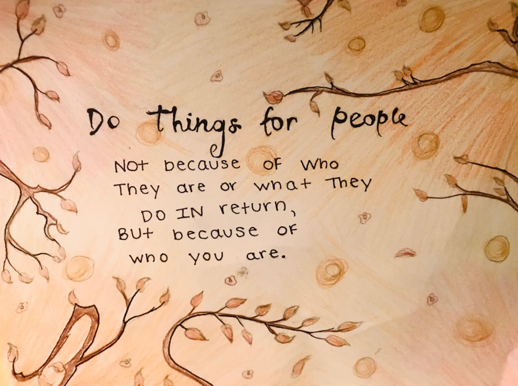 Do things for people